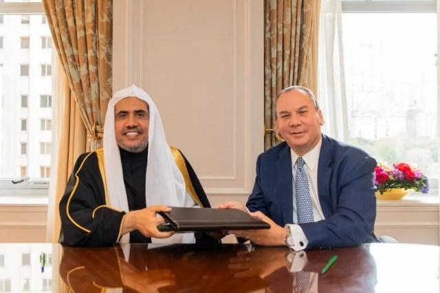 Dr. Mohammad Al-Issa and Rabbi Marc Schneier on October 23, 2019. (Supplied)