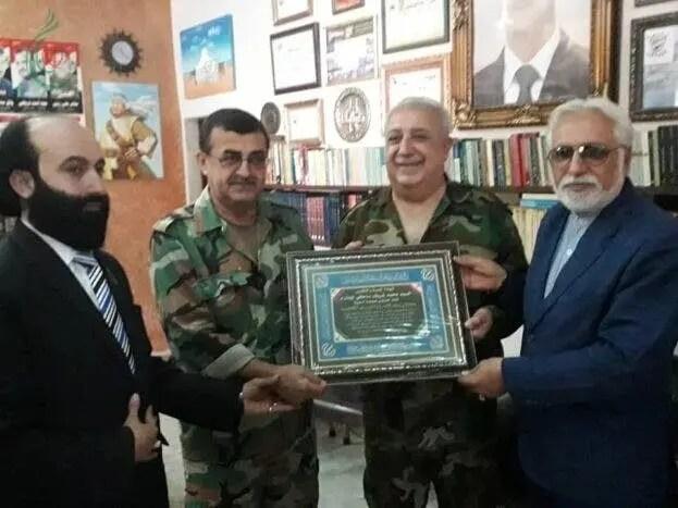 قصاب بانیاس و زهیر اتلبغدادی و یکی از مسئولان سفارت ایران