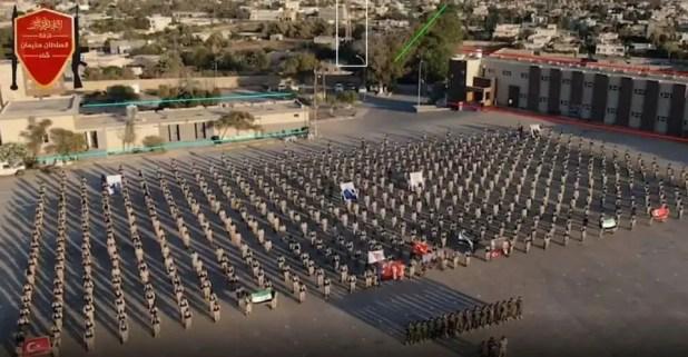 عرض عسكري ل المرتزقة في طرابلس