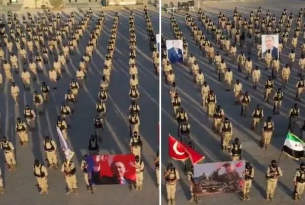 عرض عسكري ل المرتزقة طرابلس