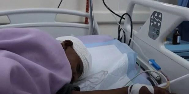 الطفلة رويدا بالمستشفى