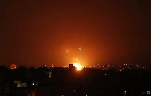 غارات إسرائيلية على قطاع غزة - فرانس برس