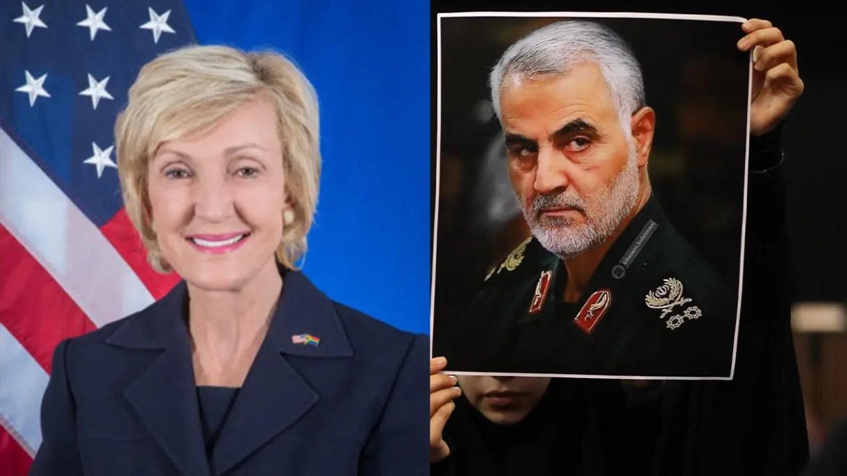 السفيرة الأميركية.. وفي الإطار سليماني