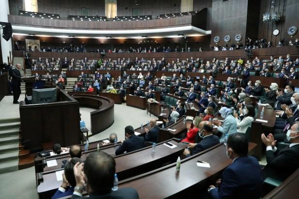 أردوغان يلقي كلمة أمام المجموعة البرلمانية لحزبه