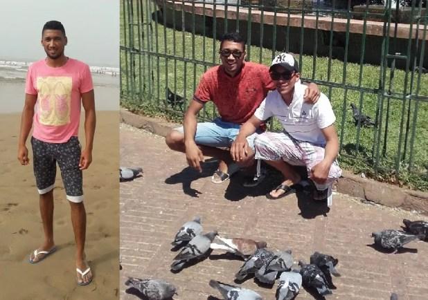 صورتان من فيسبوك للمغربي أحمد بلميلودي، القائل في الموقع إنه ملم بالانجليزية والبرتغالية والبولندية أيضا