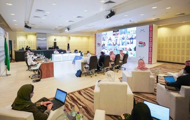 اجتماع انعقد افتراضياً من الرياض في سبتمبر الماضي لوزراء التجارة والاستثمار في دول مجموعة العشرين