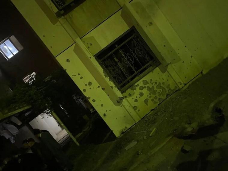 أضرار جراء هجمات الكاتيوشا في بغداد أمس