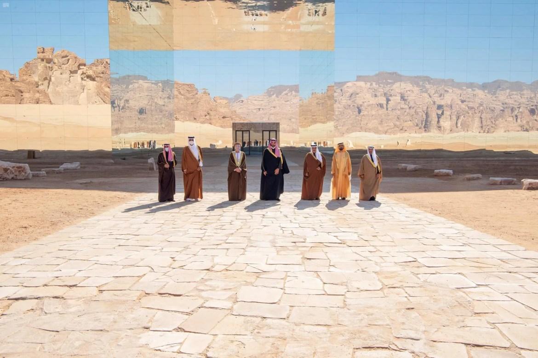 الصورة الجماعية لقادة القمة الخليجية في العلا