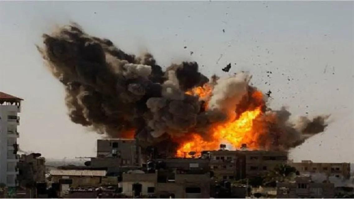 قصف إسرائيلي سابق على شمال قطاع غزة