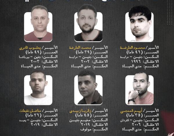 إسرائيل .. اعتقال السجينين الهاربين من سجن جلبوع في جنين