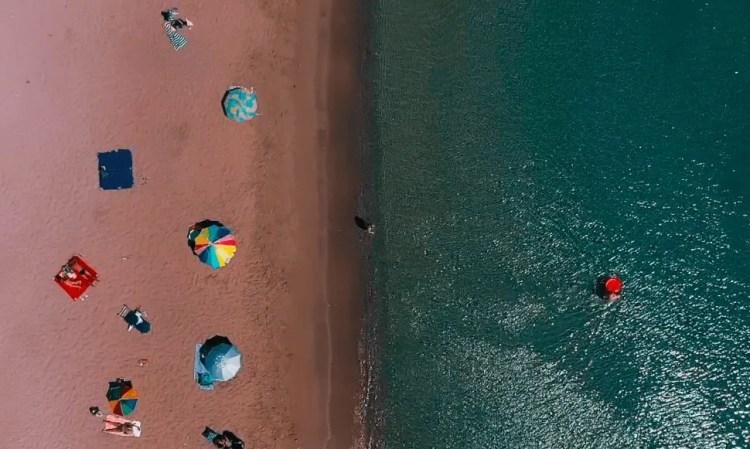 Nafplio Greece Karathona Beach