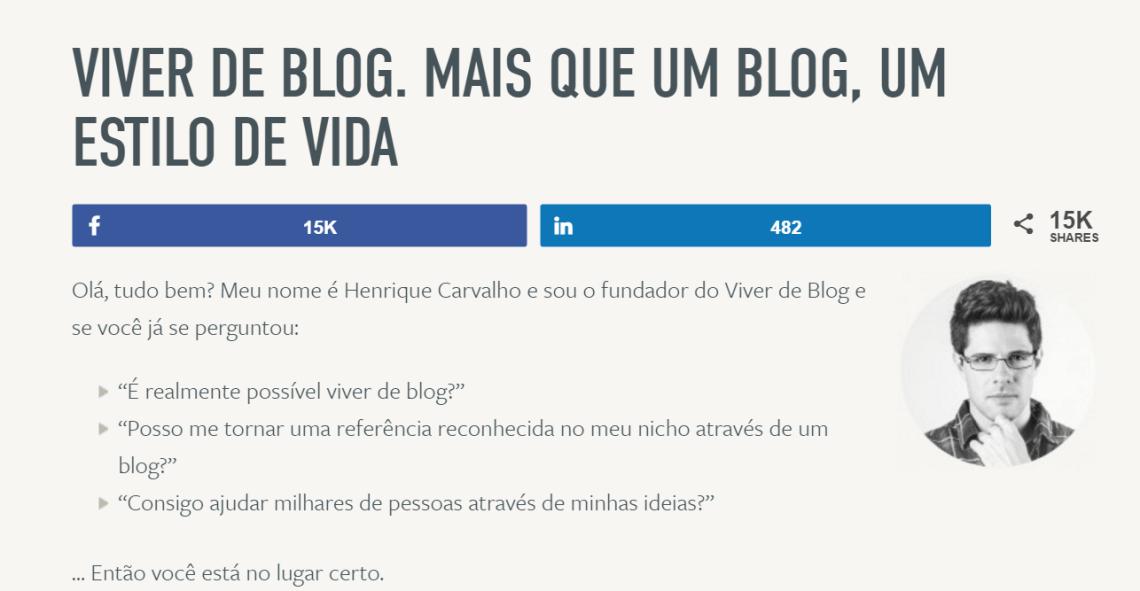 Viver de blog - Henrique Carvalho