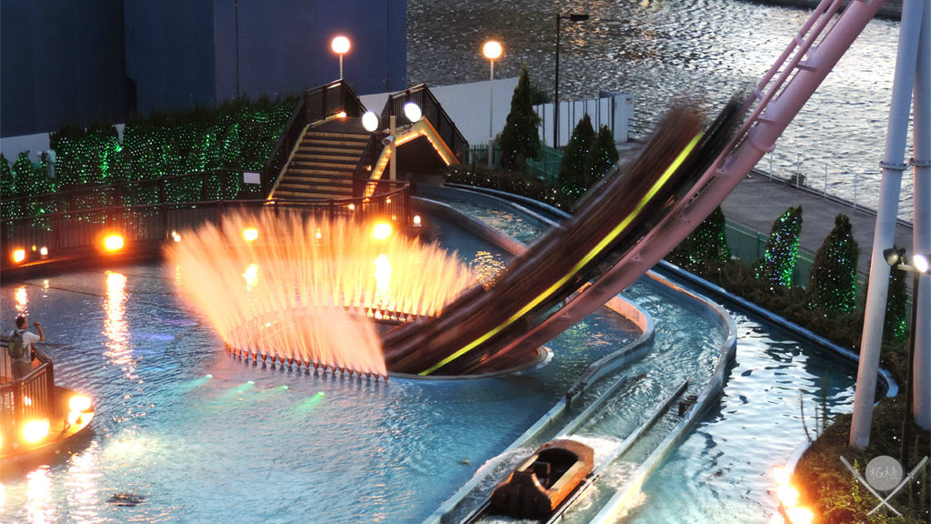 yokohama - cosmo world montanha-russa piscina