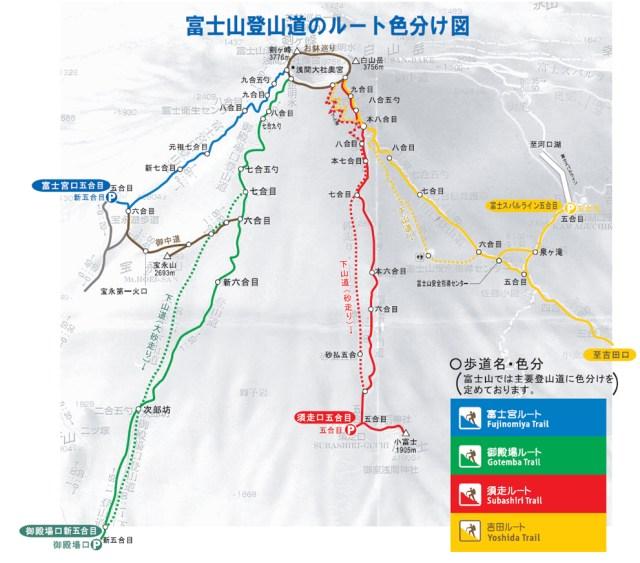 fuji - subidas diferentes fujisan climb