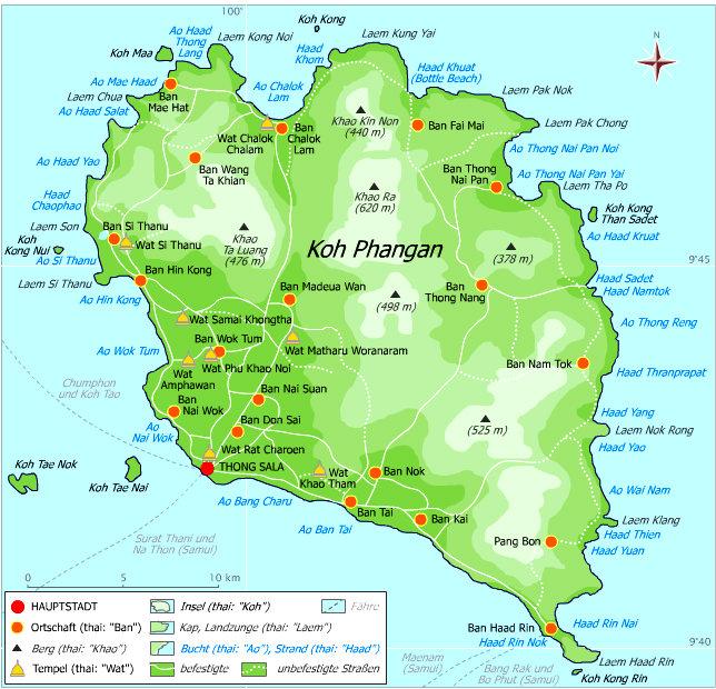 Thailand - Koh Phangan - Mapa - Viagens - Vida de Tsuge - VDT