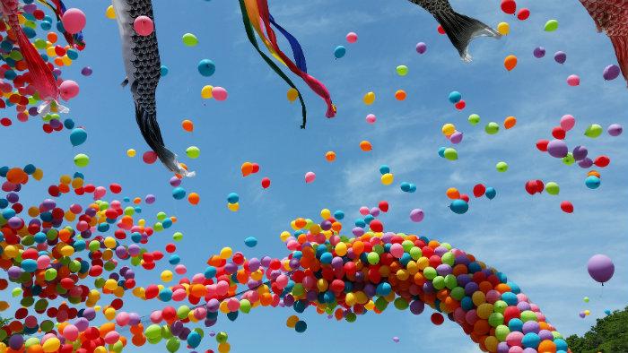 Kodomo no hi balloon - Primavera no Japão - Vida de Tsuge