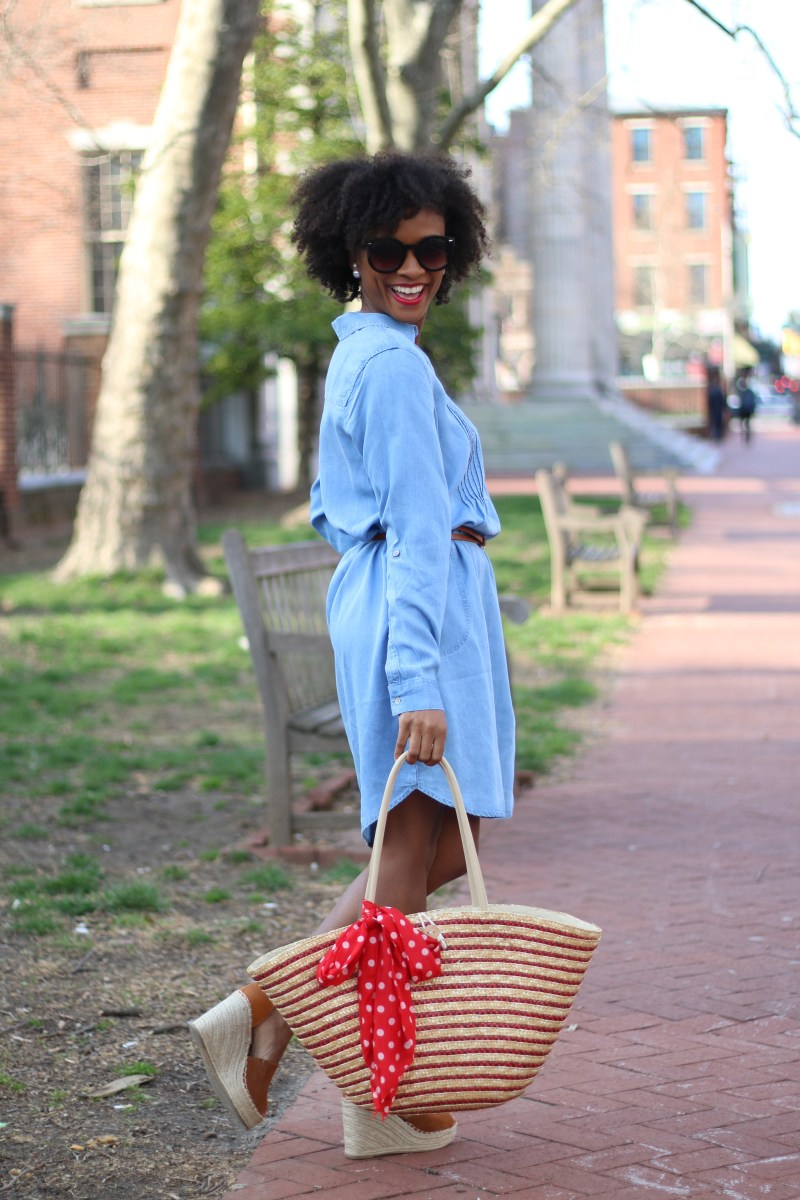 Classic Chambray Shirt Dress