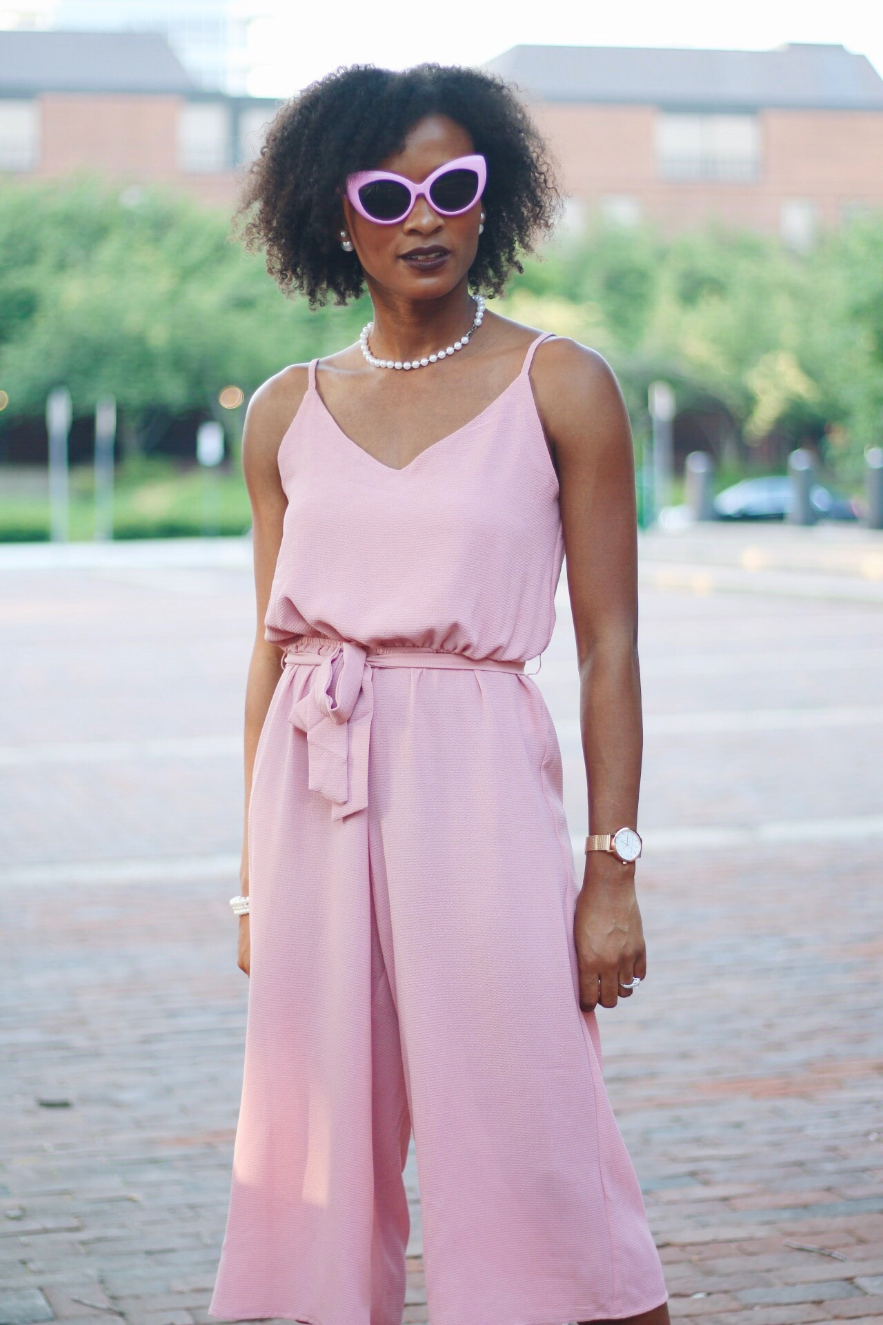Cropped Culotte Jumpsuit