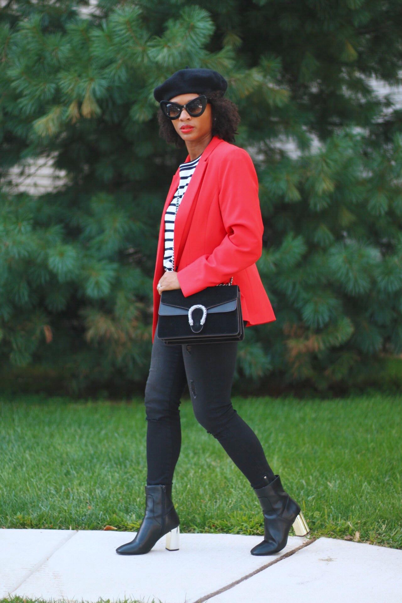 Bold Red Blazer