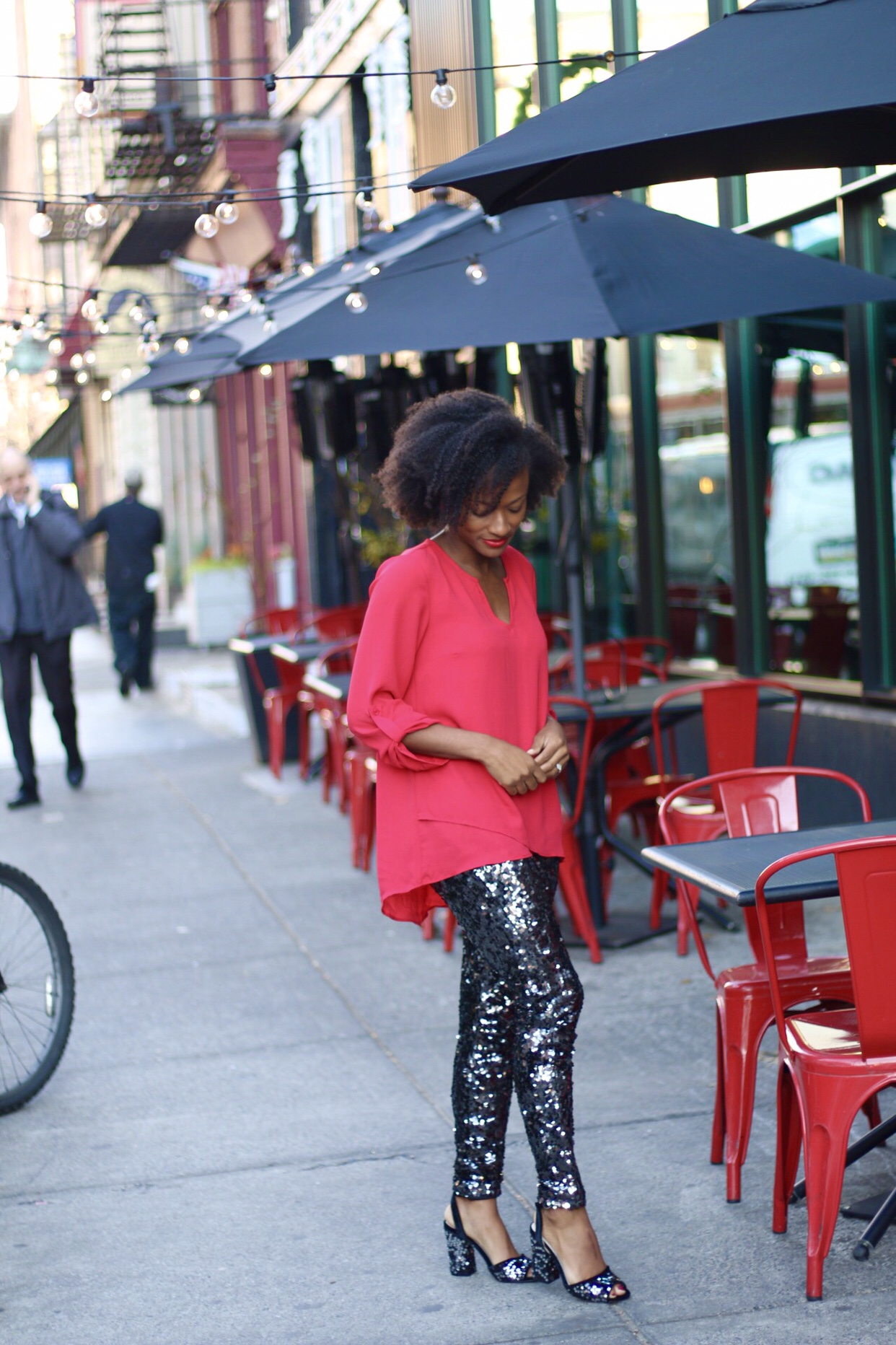 Sequin Leggings Holiday Outfit
