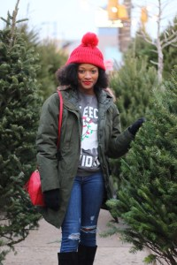 Christmas Tree Shopping Outfit