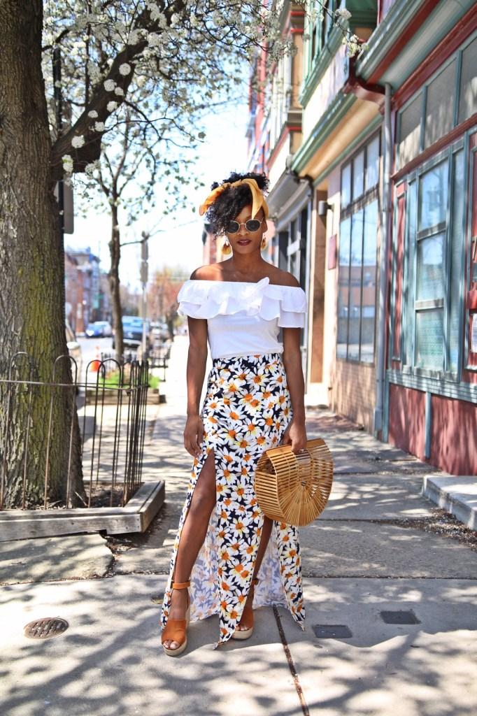 Daisy Print Skirt11