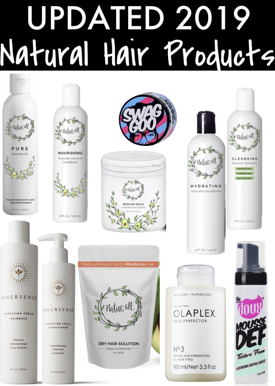 Updated 2019 Natural Hair Products