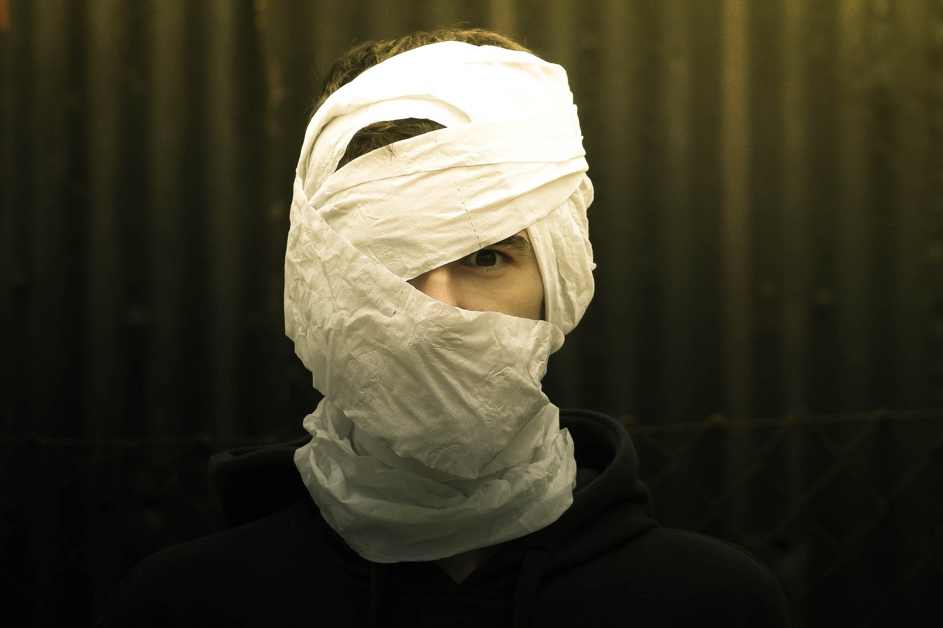 person wrapped with tissue paper – vidalivinglife