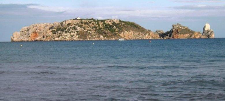 Les Illes Medes des de la platja de L'Estartit