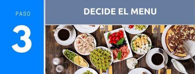 Cómo organizar el menú para una reunión en tu casa. Paso 3