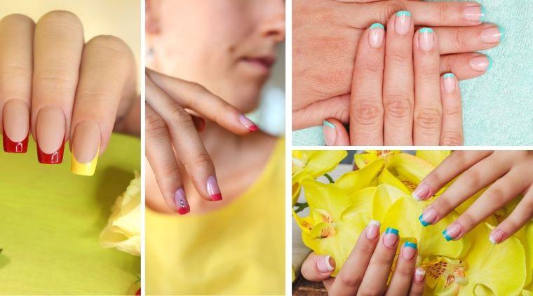 manicure francesa de colores