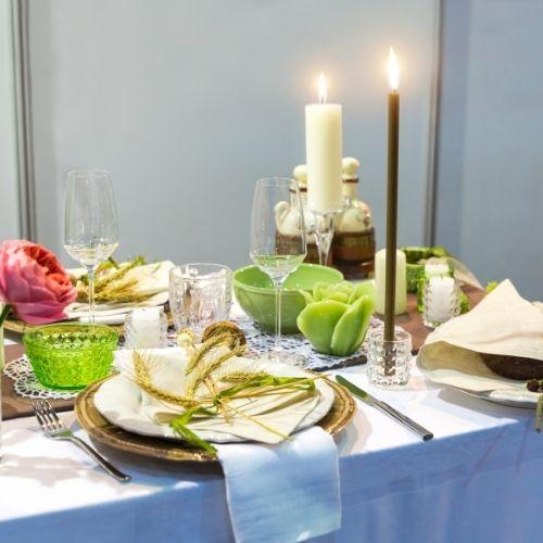 mesa elegante cena romántica