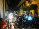 Plazuela vendors set up along the street