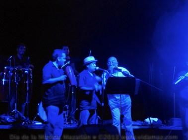 Current favorites and retro favorites: Enrique Aguilar from the 60s-era Stukas joins la Falsa Orquesta Cubana