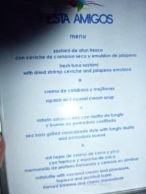 An incredible menu of all local food
