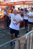 Happy at the finish line