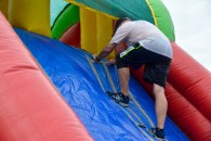 Greg scaling one of the inflatables