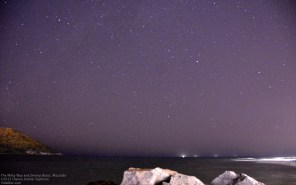 Stars, waves, shrimp boats and rocks