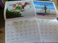 A couple of pages in this year's calendar.