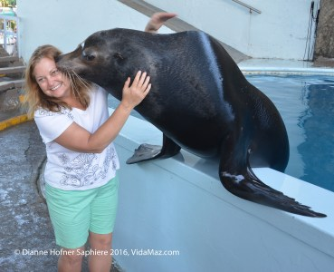 A kiss from a sea lion was great fun!