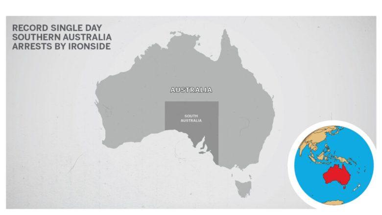 Map of South Australia.