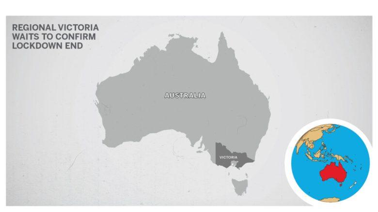 Map of Victoria outside of Melbourne Australia