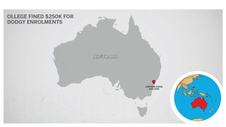 Map of Captain Cook College