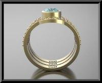 Aquamarine Wedding Ring Set | Vidar Jewelry - Unique ...