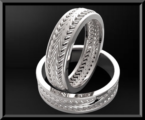 Unique Matching His and Hers Wedding Bands  Classic Rings  Vidar Jewelry  Unique Custom