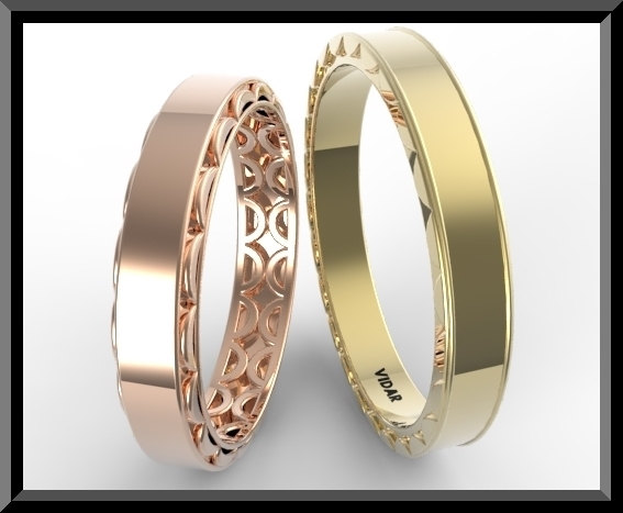 Unique Matching Wedding Band Set Vidar Jewelry Unique