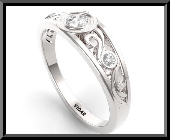 Diamond Wedding Band For Women Vidar Jewelry Unique