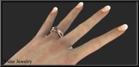 Rose Gold Black Diamond Engagement Ring | Vidar Jewelry ...