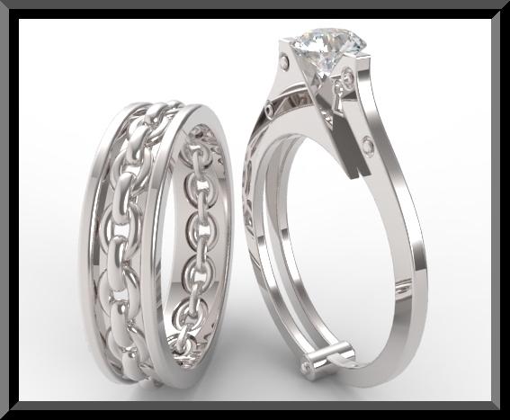 Sapphire Handcuff Wedding Ring Setunique Rings Design  Ebay