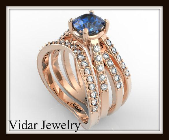 Moissanite Bridal Ring Set Vidar Jewelry Unique Custom